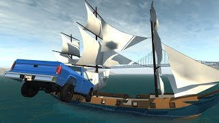 Dummy vs. The Stig 6: Pirate Ship Attack | BeamNG.drive