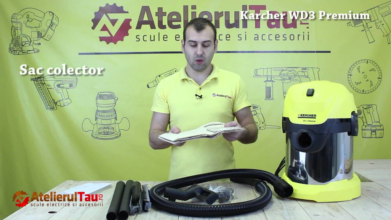 aspirator universal karcher wd3 premium wunder haff youtube. Black Bedroom Furniture Sets. Home Design Ideas