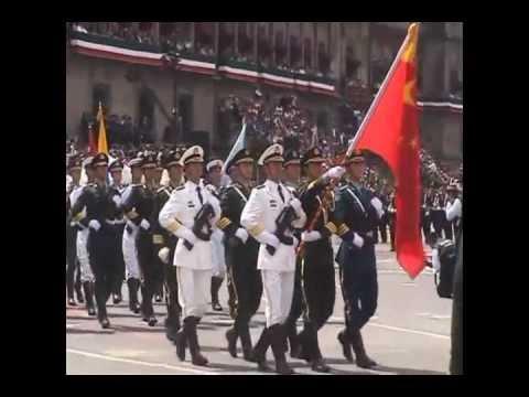 Delegacion de Fuerzas Armadas China en Desfile del Bicentenario Mexico