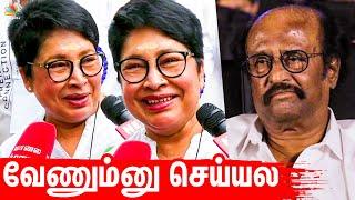 நாங்க வேணும்னு செய்யல : Kovai Sarala cast her vote for Nadigar Sangam Elections 2019   Rajinikanth