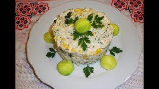 Салат с кольраби и курицей / Салат з кольрабі та курячим філе / Холодная закуска