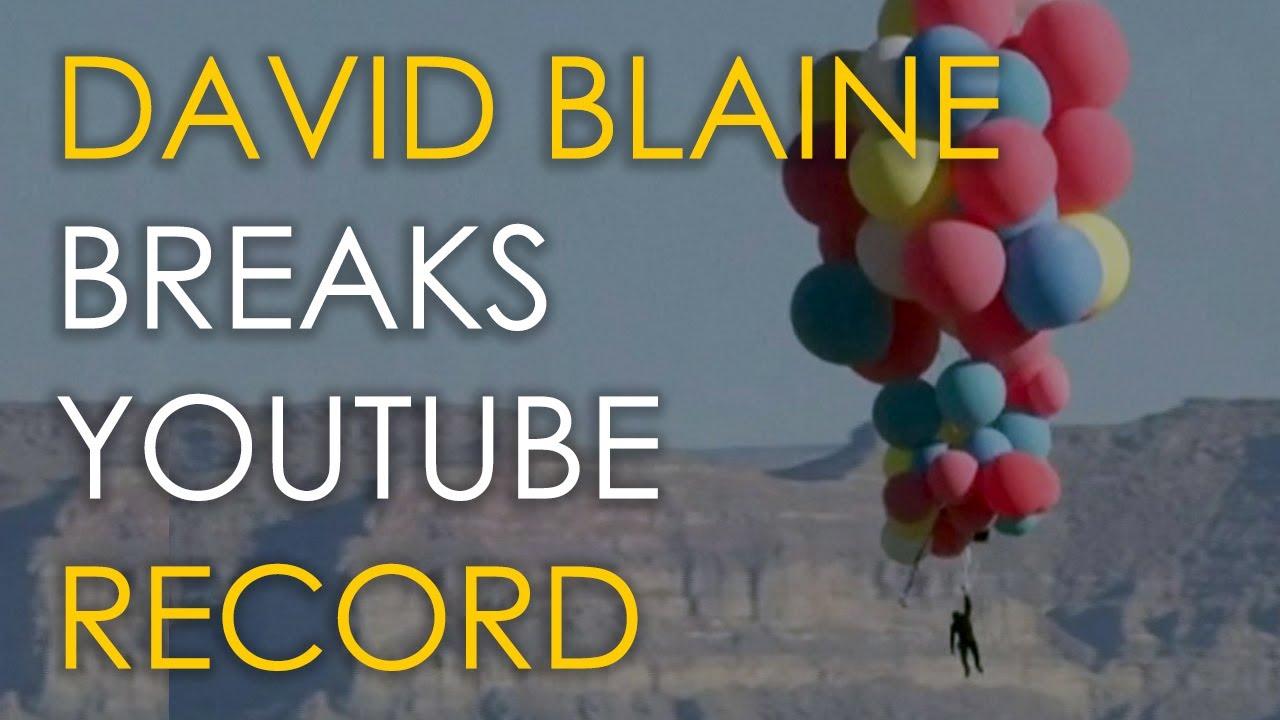 David Blaine Breaks YouTube Record