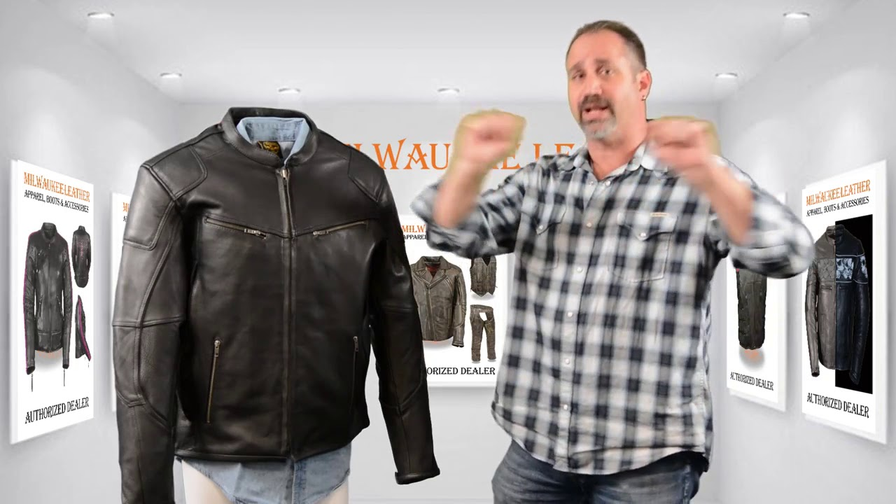 40b906be1 Milwaukee Leather Mens Vented Scooter Jacket with Cool Technology