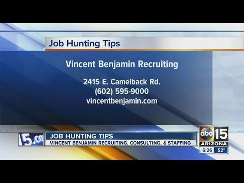 Job hunting tips from Vincent Benjamin Recruiting, Consulting and Staffing
