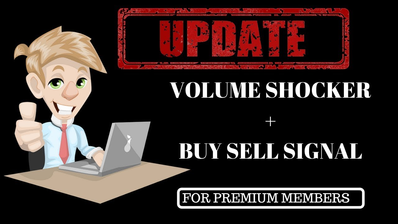 Intraday trading :-Volume shockers + buy sell signal for Premium members