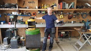 Awesome Homemade Waste Oil Stove ..  Free Heat .. Build 2