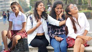 Cute School Girl Staring At Prank   Breakup On Cute Couples Prank   Breakup Patchup Prank   {BRbhai}