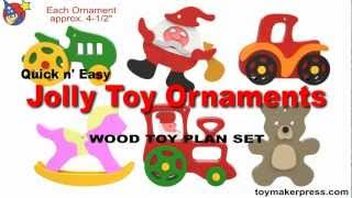 Wood Toy Plans - Jolly Christmas Ornaments