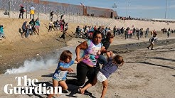 US officers fire teargas at migrant caravan