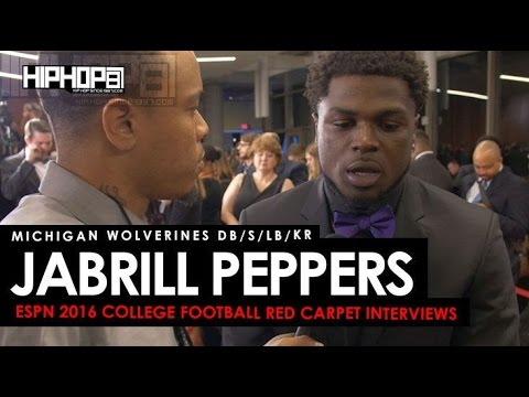 Jabrill Peppers Talks Heisman, Jim Harburgh, Orange Bowl & More (ESPN College Football Awards)