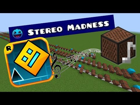 Minecraft: Geometry Dash - Stereo Madness with Note Blocks