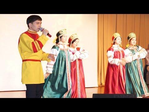 Wonderful Turkmenistan Girls Dancing in Russia | Vladimir State University Russia New Year 2018