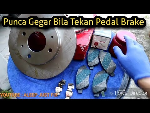 Masalah Gegar Bila Tekan Brake | Cara Tukar Brake Pad Dan Disc Rotor