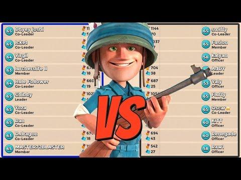 Boom Beach CUSTOM TASK FORCE VS TASK FORCE WAR! (Blue vs Black Battle!)