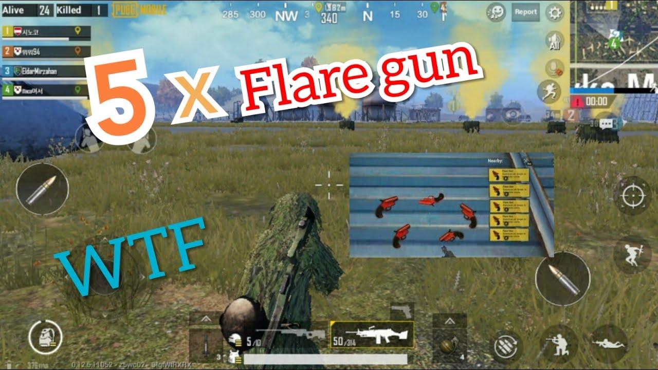 PUBG 5 Flare gun в одно место!  5 FLARE GUN AIR DROPS AT ONE PLACE! PUBGMOBILE