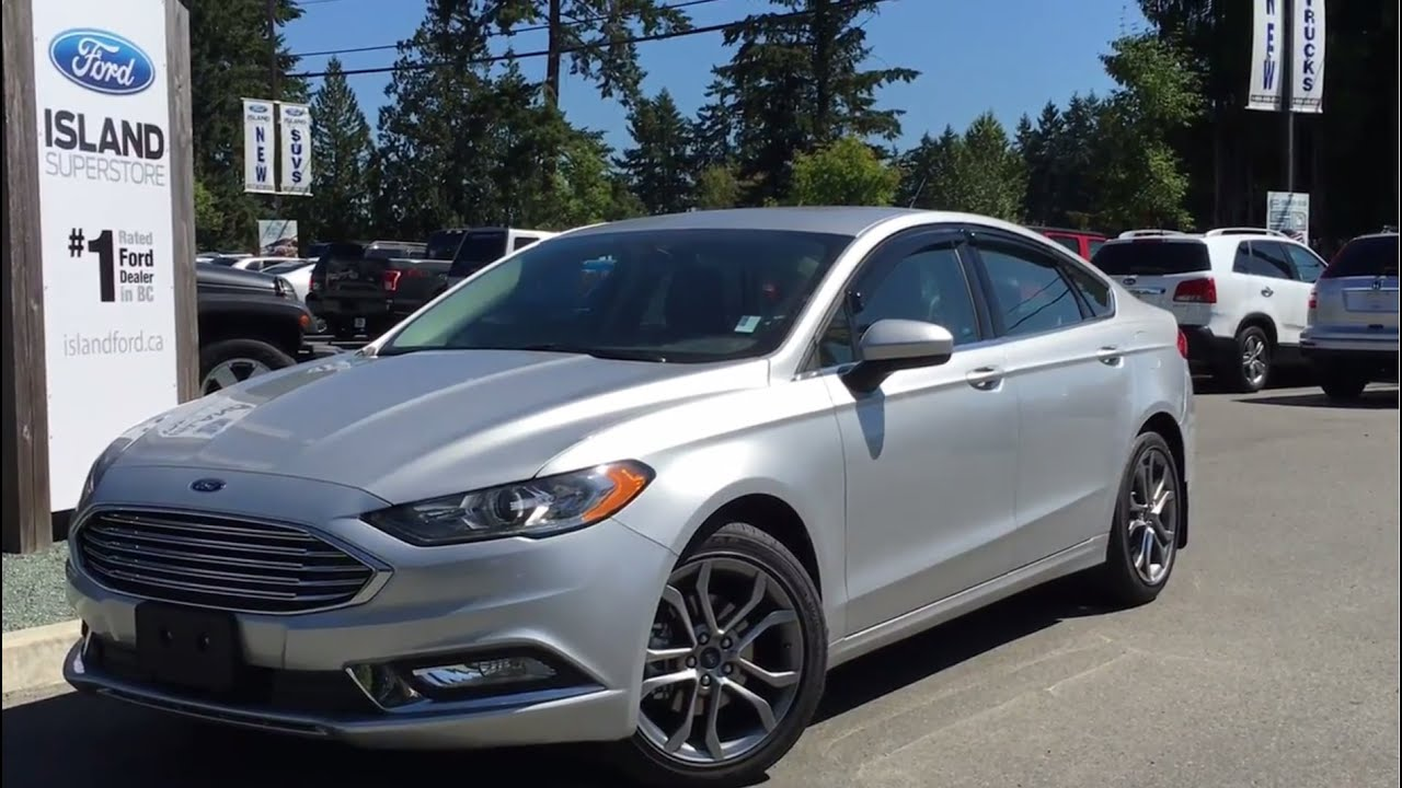 2017 ford fusion se w leather cloth seats review island ford youtube. Black Bedroom Furniture Sets. Home Design Ideas