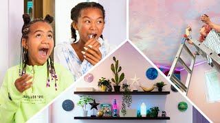 TikTok Aesthetic Neon Galaxy Bedroom Design! (Mr. Kate x MazeLee)