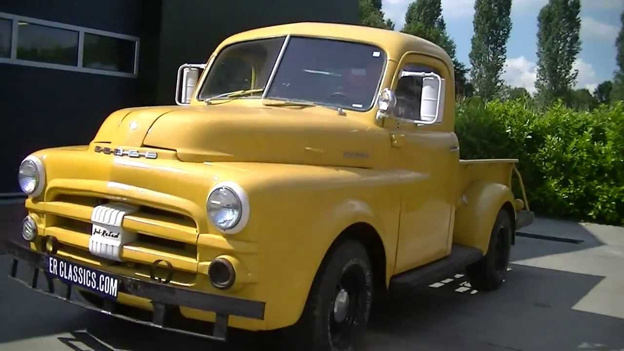 dodge pick up 1952 6 cylinder video. Black Bedroom Furniture Sets. Home Design Ideas