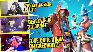 Streamers React to *NEW* WIZARD SKINS 👍 (CASTOR & ELMIRA) in Fortnite! (Ninja, CouRage, DrLupo etc)