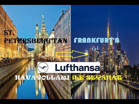 ST  PETERSBURG    FRANKFURT  LUFTHANSA TAKEOFF AND LANDING