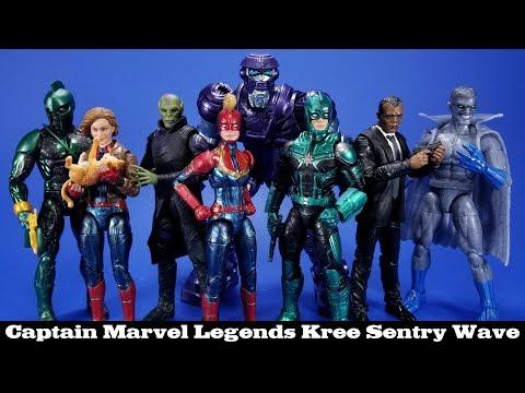 Marvel Legends Kree Sentry Series Captain Marvel Hasbro Action Figure Review