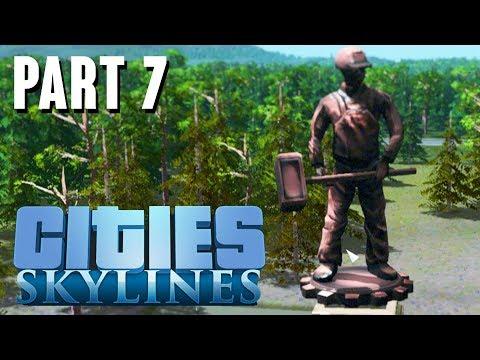 Cities: Skylines - Mass Transit DLC, Gardens DLC -  New CITY Gameplay - Part 7 |