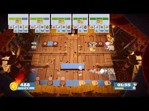 Overcooked 2 煮過頭2 [world record] carnival of chaos 1-3 score 1360 (solo) |