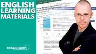 What My Research Tells You About English Learning Materials