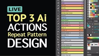 Live Stream: 3 Top Adobe Illustrator CC Actions for Repeat Pattern Design. Saves so much time!