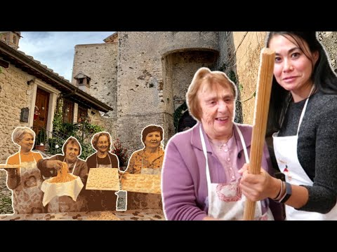 HAND MADE PASTA COOKING with ITALIAN GRANDMAS | Cooking with Nonna Nerina