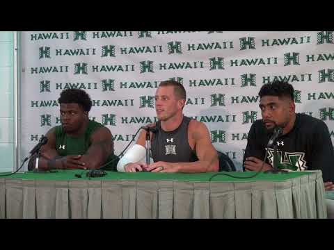 Hawaii Football Players Post Game Press Conference vs. Western Carolina 9-2-17