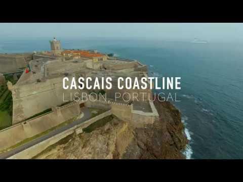 4K Drone Video of Cascais Coastline in Lisbon