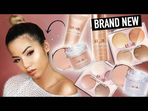 NEW | L'OREAL LUMI HIGHLIGHTER PALETTE | STROBING POWDER & DROPS | FALL 2017 REVIEW