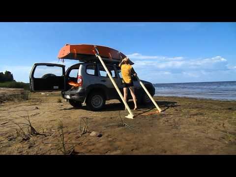 перевозка лодки в автомобиля