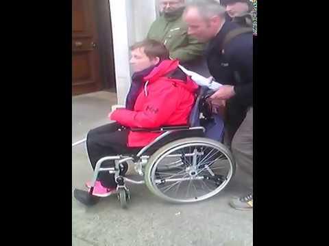 Vera Towmey tour Leinster house steps.