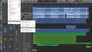 Logic Pro X - Video Tutorial 07 - Import Audio, Export Audio, Export All Tracks