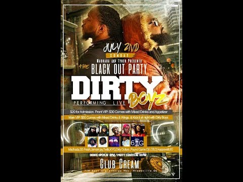 ZIGGYBOI ENT. PRESENTS KYG OPENING FOR THE DIRTY BOYS BLACKOUT PARTY @ CREAM SPORTS BAR & LOUNGE