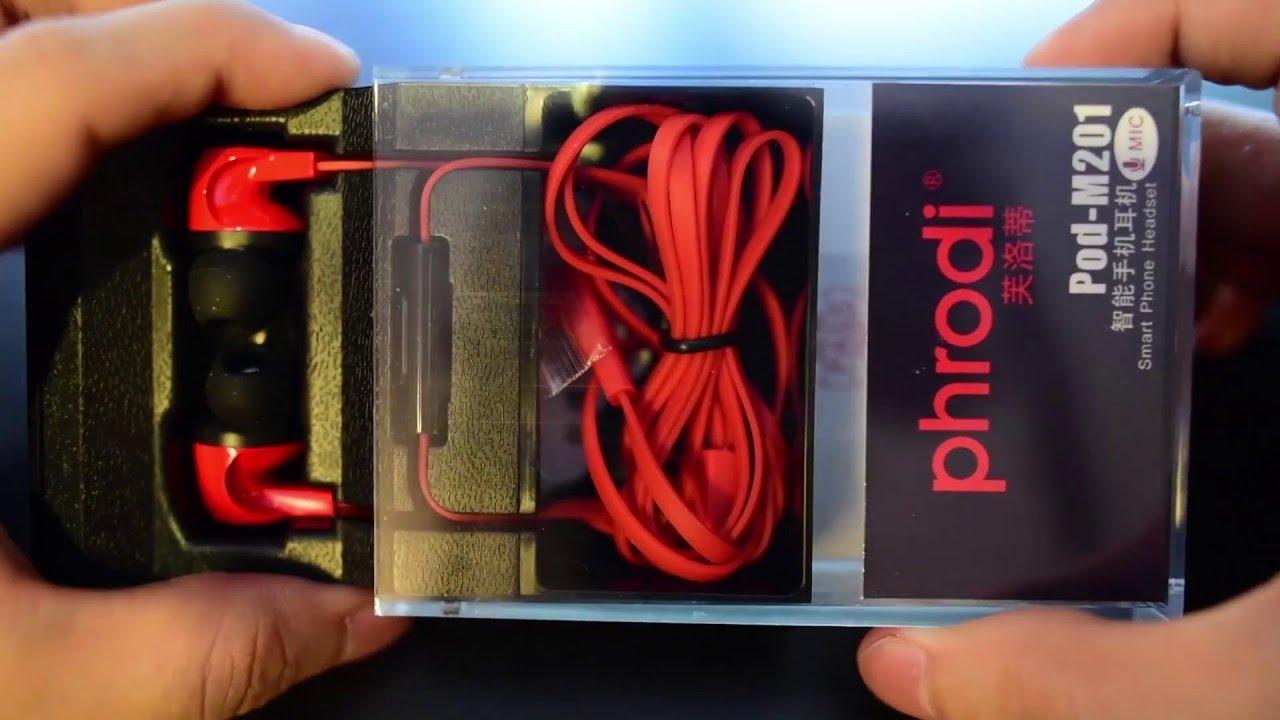Phrodi M201 Earphone With Microphone Pod Black8 Daftar Harga Merah Unboxing Review