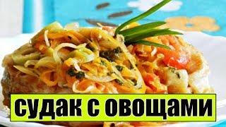 Тушеный судак с овощами. Как приготовить судака.