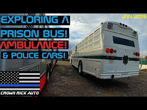 Exploring A Prison Bus, Ambulance & Police Cars! Crown Rick Auto