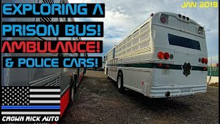 exploring-a-prison-bus-ambulance-police-cars-crown-rick-auto