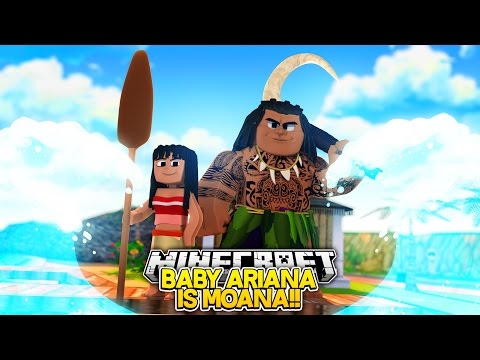 BABY ARIANA IS MOANA!! w/Little Carly (Minecraft Roleplay)