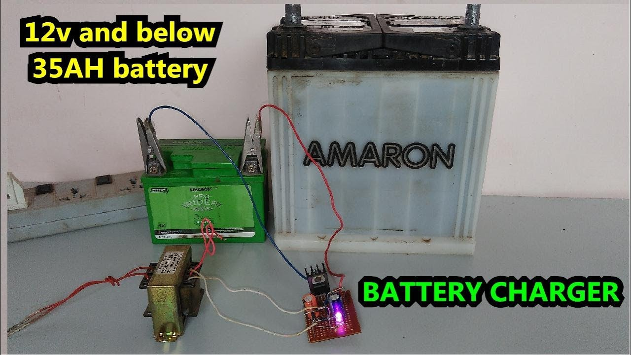 Low Cost How To Make A 12 Volt Battery Charger 1ah 35ah At Home