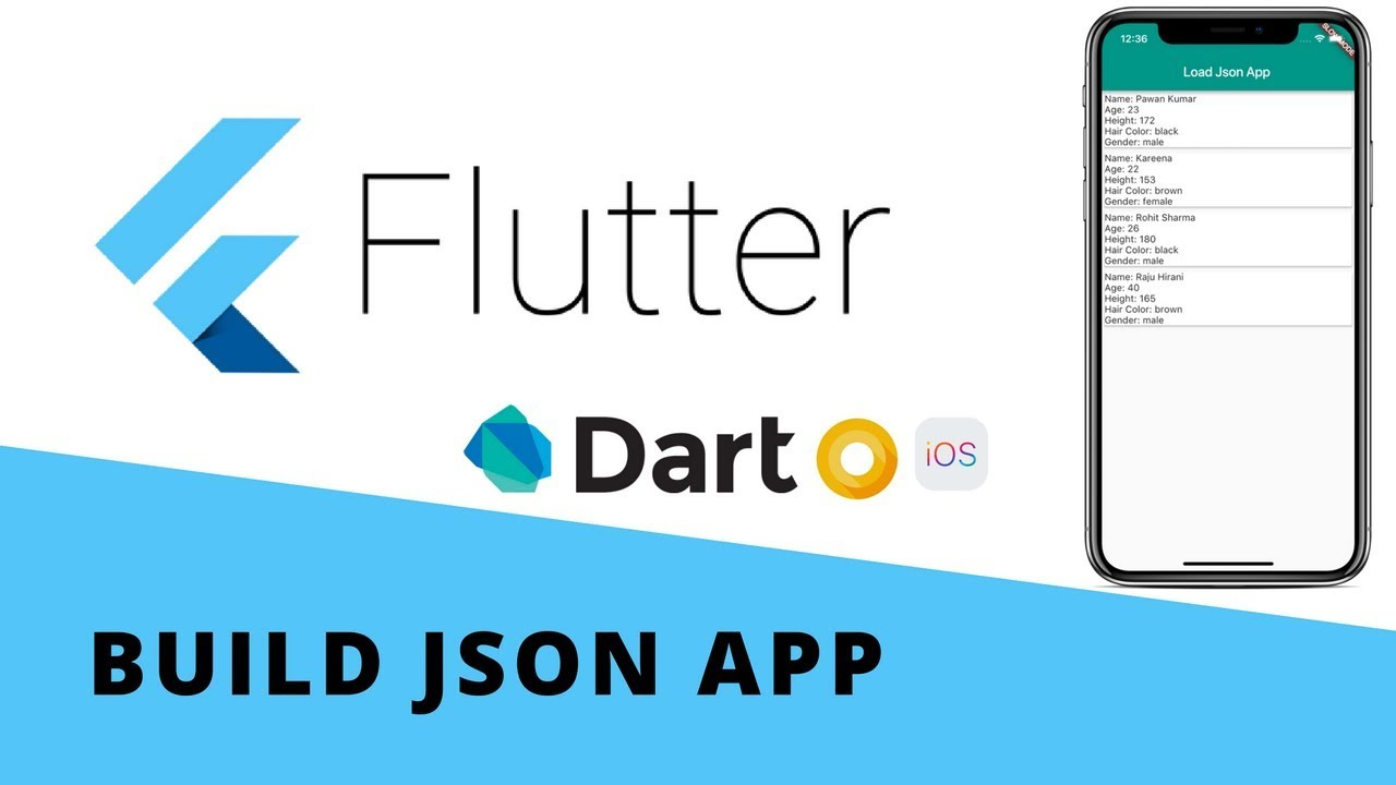 Flutter - Build Local JSON App | Android & iOS
