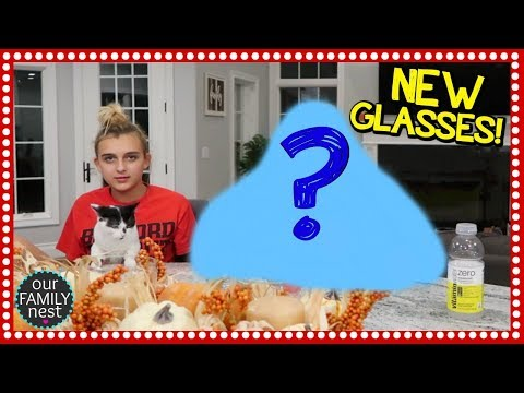 WHO GOT NEW GLASSES? WE FINALLY BOUGHT SOME FURNITURE!