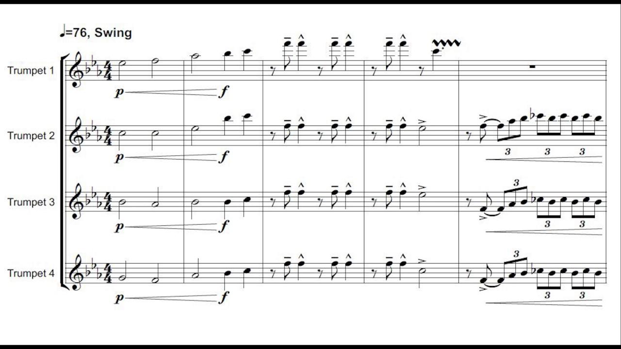 Michael Buble Feeling Good Trumpet Shout Chorus