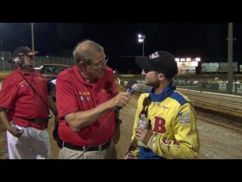 Lincoln Speedway 410 Sprint Car Victory Lane  8-13- 16