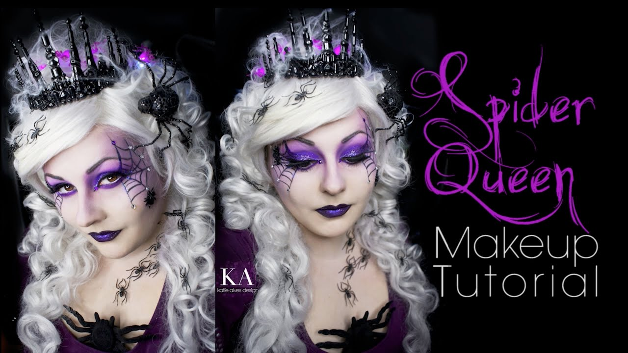 Spider Queen Halloween Makeup Tutorial - YouTube