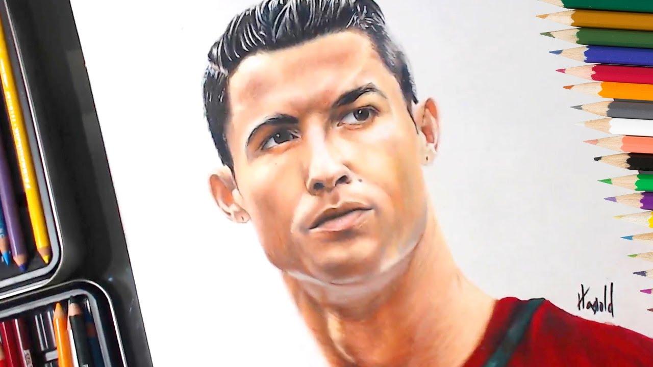 Dibujo De Cristiano Ronaldo Speed Drawing Youtube