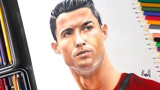 Dibujo de  Cristiano Ronaldo speed drawing